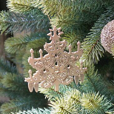 【クリスマス用品】木製オーナメント:キャンドルツリー[ Christmas:クリスマスオーナメント ]