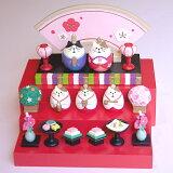 【 DECOLE:デコレ・ひな人形・あす楽対応 】ネコびな段飾りセット・木製ひな壇3段飾り数量限定販売!