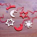 【クリスマス用品】木のオーナメントミニ6個セット[ Chri...