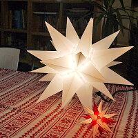 【クリスマス用品・11月入荷分ご予約】40cmベツレヘムの星ライト:トランスペアレント[Christmas:クリスマス]