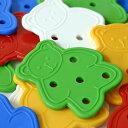 【知育玩具】くまのひも通し数・色のお勉強・幼児教室教材として...