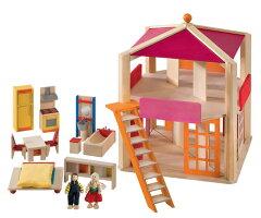 家具・人形と工夫いっぱいのドールハウスセット[ Selecta:セレクタ ]ドールハウスセット・ロ...