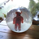 【クリスマス用品】【Glas & Licht】ガラスのスノードーム【帽子のくま】【送料無料!】【楽ギフ_包装】【楽ギフ_のし】★マラソン最大10倍ポイント&クーポン!★
