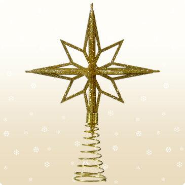 【クリスマス用品】シャンペン3DスターツリートップL:ゴールド[ Christmas:クリスマス ]【年に1度の売り尽くしSALE!全品12倍!売切れ終了!】