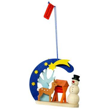 【クリスマス用品 】Graupner:グラウプナー・クリスマスの流れ星・ゆきだるまと小鹿[ Christmas:クリスマスオーナメント ]