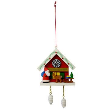 【クリスマス用品 】ULBRICHT:ウルブリヒト・家時計・サンタとシカ[ Christmas:クリスマスオーナメント ]