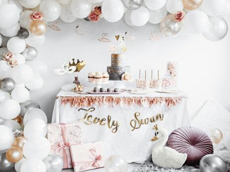 ケーキトッパーLovelySwanスワン誕生日バースデーカップケーキトッパーパーティーホームパーティーカップケーキケーキ装飾ケーキ飾り付け女の子ベビーシャワーデコレーションDIY[PartyDeco]