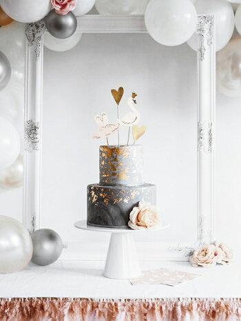 カップケーキトッパーマーメイドイリディセント虹色誕生日バースデーパーティーホームパーティーカップケーキケーキ装飾ケーキ飾り付けデコレーション[PartyDeco]