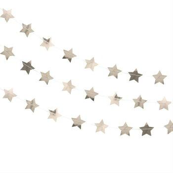 スターガーランドローズゴールドガーランドバナー誕生日バースデーパーティークリスマスウエディング星飾り付け装飾インテリア[GingerRay]