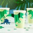 恐竜 ペーパーカップ [8個セット] ダイナソー 男の子 バースデー 誕生日 パーティー ダイナソー 恐竜テーマ キッズパーティー デコレーション 装飾 テーブルウェア おしゃれ かわいい [GingerRay]