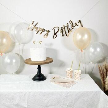 ゴム風船[5枚セット][27cm]風船パーティーバルーンクリアバルーンナチュラルブラウンベージュクリア誕生日バースデー装飾飾り付けデコレーション女の子男の子おしゃれかわいい