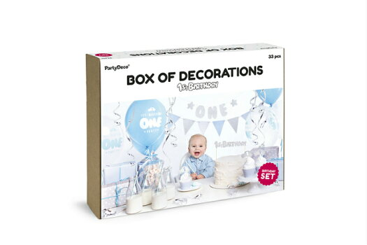 1歳誕生日デコレーションセットboy男の子バースデー誕生日装飾飾り付けパーティー[PartyDeco]