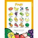 【幼児・小学生・中学生にオススメ 英語教材】ファービュラス・フルーツ・ポスター Fabulous Fruit Posterの商品画像