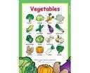【幼児・小学生・中学生にオススメ 英語教材】ヴァイタル・ベジタブル・ポスター Vital Vegetables Poster(薄手の紙)の商品画像