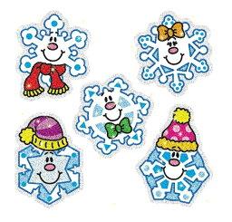スノーフレイク・チャット・シール Snowflakes Chat Seals【シール・スティッカー 英語教材】
