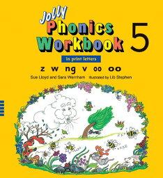 ジョリー フォニックス ワークブック 5 Jolly Phonics Workbook 5(in print letters)【幼児・小学生にオススメ 英語教材】