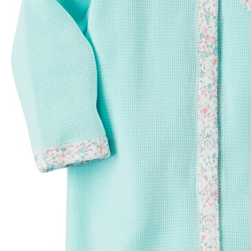 カーターズ カバーオール ロンパース Carter's 正規品 サーマル生地 カバーオール 足つき 長袖 女の子ベビー服 お花くまさん