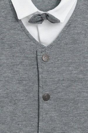 NEXTネクストカバーオール秋最新作ロンパーススリープウェア足つき長袖男の子ベビー服蝶ネクタイ付きスマートプリントネイビー