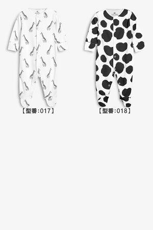 NEXTネクストカバーオール4枚セット2017年秋冬最新作ロンパーススリープウェア足つき長袖女の子ベビー服水玉お花