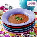 スープ皿 パスタ皿 陶器 おしゃれ かわいい シンプル ハンドメイド 丸皿 洋食器 食器 北欧雑貨 輸入食器 北欧 デンマーク rice ライス セラミックテーブルウェア スープボウル