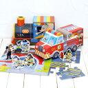 パズル 幼児 知育玩具 おもちゃ はたらくくるま おままごと お片づけ プレゼント 輸入玩具 アメリカ crocodile creek クロコダイルクリーク パズル&プレイセット
