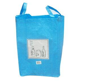 エッシャートデザインリサイクルバッグ ブルー (ボトル用)