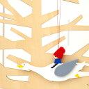 クリスマス オーナメント 飾り 木製 インテリア クリスマス雑貨 北欧雑貨 輸入雑貨 スウェーデン製 Larssons Tra ラッセントレー 木製オーナメントニルス S