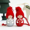 オーナメント クリスマス クリスマスオーナメント 木製 飾り かわいい 北欧雑貨 輸入雑貨 スウェーデン製 Larssons Tra ラッセントレー 木製オーナメントトムテ