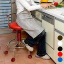 全5色 キッチンチェア キャスター 回転 椅子 背もたれ ガス圧 昇降式 回転チェア 台所 作業椅子 キャスター付き スツール 白 ホワイト 赤 青 黒 キッチン チェアー カウンターチェアー 椅子