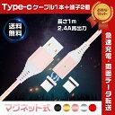 【Type-C 充電ケーブル1本+マグネット充電端子2つ セ