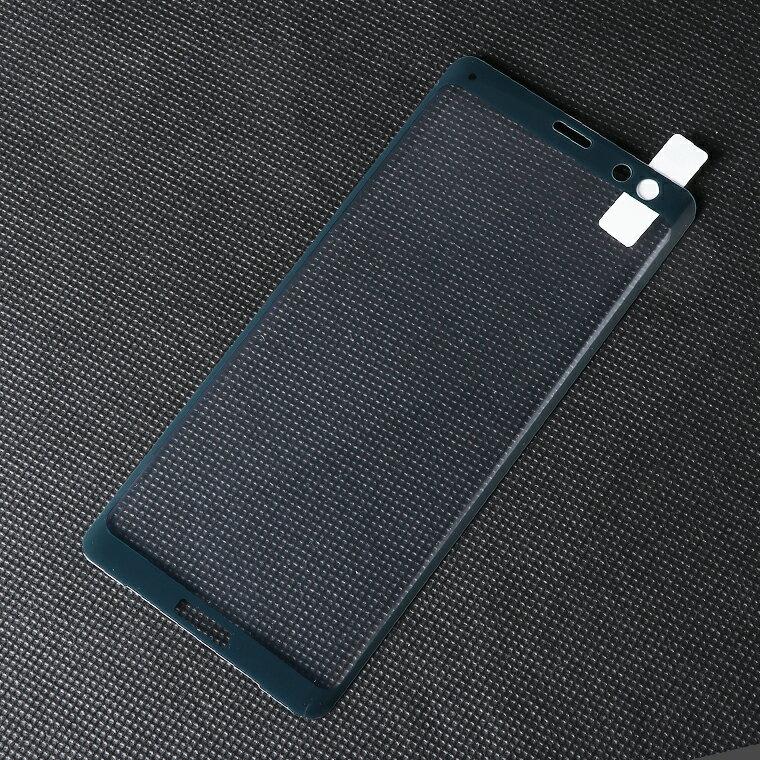 【3D全面保護】Sony Xperia XZ3 フィルム Xperia XZ3 ガラスフィルム SO-01L SOV39 801SO 液晶保護フィルム ソニー エクスペリア XZ3 強化ガラスシート 日本板硝子社製ガラス さらさら 耐衝撃 高光沢