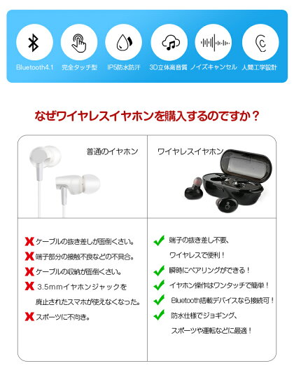 Bluetooth無線イヤホン人間工学