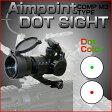【数量限定価格】 ドットサイト Aim point COMP M3 タイプ ダットサイト オフセットハイマウント バトラーキャップ 付属 レッド / グリーン 電動ガン サイト カスタム