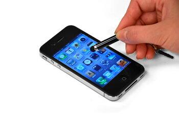 【アクセサリータッチペンS】iPad2、iPhone4S、iPodtouch、スマートフォン(スマホ)対応