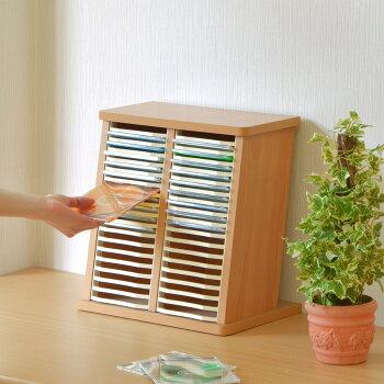 【RCP】【モアウッドCDスタンドW-34】お部屋に合わせやすい木材の廃材を活用したCDスタンド!安定性もあってたっぷり入る34枚!もちろんDVDの整理にも使えます!【アウトレット品】10P05Apr14M