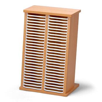 【RCP】【モアウッドCDスタンドW-52】お部屋に合わせやすい木材の廃材を活用したCDスタンド!安定性もあってたっぷり入る52枚!もちろんDVDの整理にも使えます!【アウトレット品】10P05Apr14M