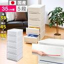 【送料無料】収納ケース 5段 プラスチック製 引き出し 日本製【インテ...