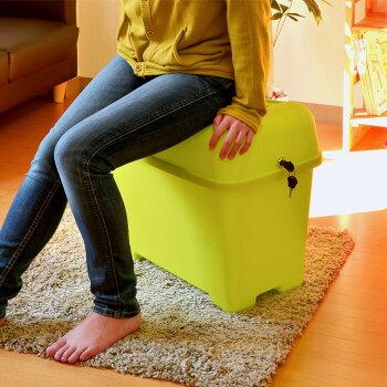 【コンテナチェアーL】灯油缶スツールイス椅子収納ボックスボックス収納フタ付き鍵付きおもちゃボックスおもちゃ箱おもちゃ入れ座れるフィット食品バス用品踏み台座れる収納隠して座るチェアーかわいいカラフル伸和シンワ