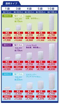 【PLUSTPHOTO(プラストフォト)PHB504】書類レターケース整理ケース事務用品B54段引き出しケース小物入れ収納ケース伝票薬封筒靴下ハガキ化粧品アクセサリー文具入れギフトデスク日本製10P12Oct14