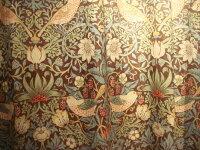 【送料無料】ウィリアムモリス/苺どろぼうStrawberryThiefブラウン&ブルー220311オーダーカーテン