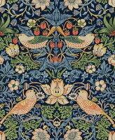 ウィリアムモリスいちごどろぼうStrawberryThiefブルー220313オーダーカーテン
