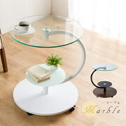 デザイン サイドテーブル スタイル テーブル ディスプレイ キャスター マーブル