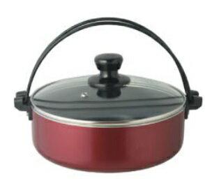 ガラス蓋付 フッ素加工 グレイスすき焼き鍋 IH対応 28cm