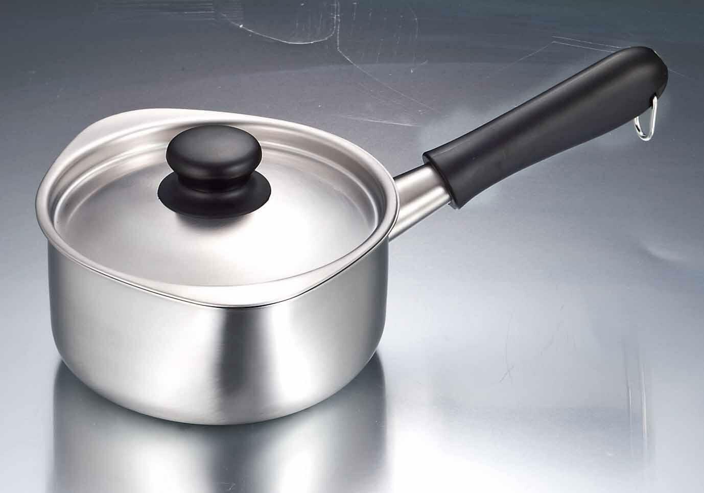 柳宗理/SORI YANAGI ステンレスミルクパン 蓋付 つや消し
