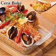 セラベイク 耐熱ガラス レクタングルロースター M ( Cera Bake セラミック加工 オーブン ガラス容器 耐熱皿 耐熱容器 オーブン レンジ セラミックコーティング )