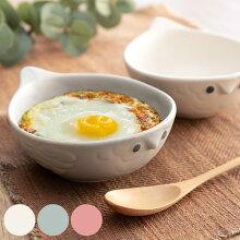 グラタン皿 16cm フクロウ ボウル 耐熱皿 陶器 瀬戸焼 日本製 オーブンウェア