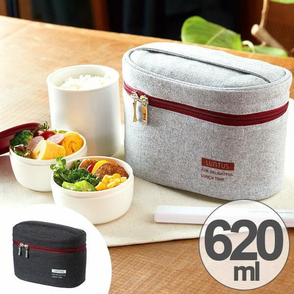 保温弁当箱 ランチジャー ステンレス製 ランタス 専用バッグ付 620ml 箸付き
