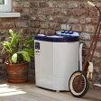 マイセカンドランドリー 二槽式洗濯機 3.6kg ( 送料無料 洗濯機 小型 ミニ ランドリー 脱水機能 小型洗濯機 2槽式 二層式 コンパクト 2台目 )