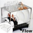 スタッキングシェルフ L Flow ( 収納ラック キッチン 収納 キッチン シンク周り シンク キッチンワイヤー キッチンラック 台所収納 台所用品 )