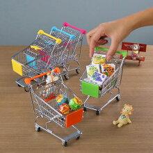 インテリア 置物 ミニチュアカート 小物入れ ショッピングカート製